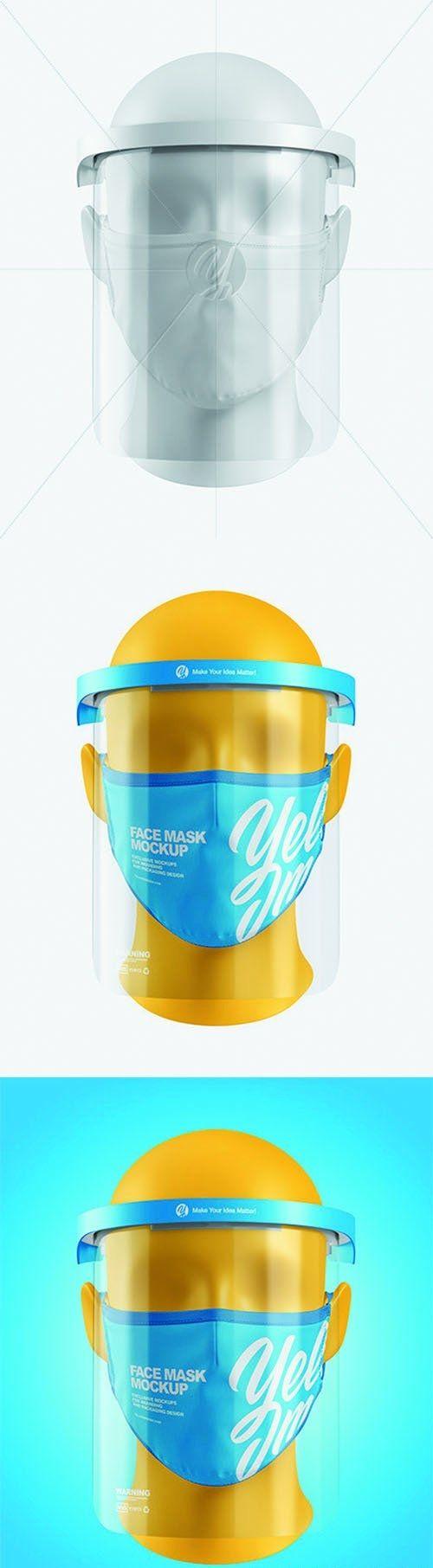 Download Face Mask Face Shield Mockup 63621 Desirefx Com Face Shield Face Mask Shield