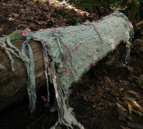 HANDGESTRICKTER Artyarn wrap Gebet Schal Schal von beautifulplace