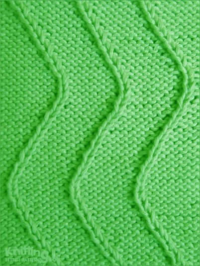 Twist-Stitch Waves All you need to know is how to knit, purl, right twist a...