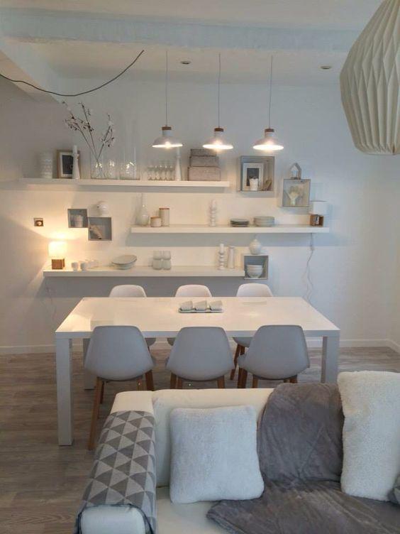 murs blanc mais ambiance feutre et douce parquet mobilier design linge de maison - Salle A Manger Parquet Bois