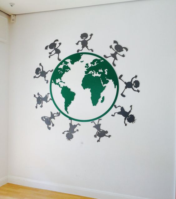 Esh Winning Primary School - world graphics #pictosign #education #interiorgraphics