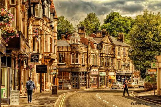 The beautiful town of Matlock in Derbyshire, England