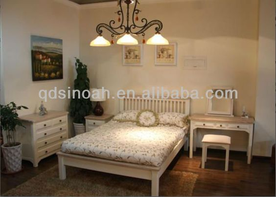 Range White Painted Solid Pine Bedroom Furniture Set Pine Bedroom