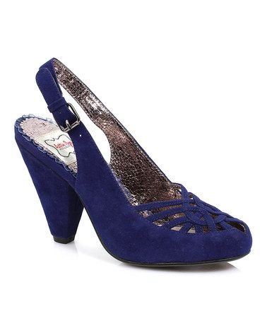 Another great find on #zulily! Blue Nettie Slingback by Bettie Page #zulilyfinds