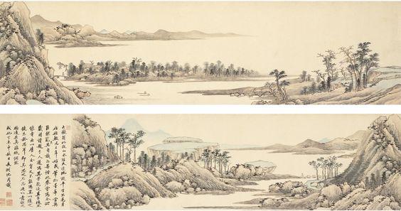 沈周, Landscape after Huang Gongwang