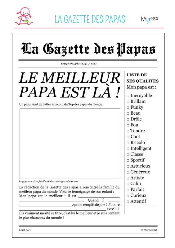 gazette des papas à imprimer                                                                                                                                                                                 Plus: