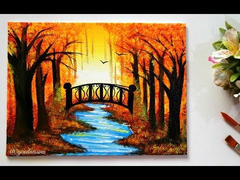 Step By Step Autumn Landscape Painting Tutorial For Beginners Youtube Landscape Painting Tutorial Landscape Paintings Acrylic Beginner Painting