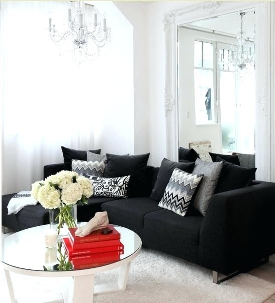Spectacular Living Room Black Couch Interior Design Inspirational Home Decorating Ruangan Ide