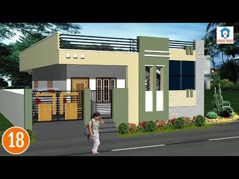 Most Beautiful House Plans Independent Single Floor House
