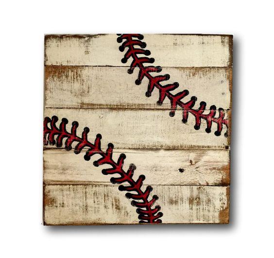 Charmant Baseball Wall Art / Sports Decor/ Rustic Vintage Baseball Sign By  PalletsandPaint On Etsy Https://www.etsy.com/listing/251142719/baseball Wall  Art U2026