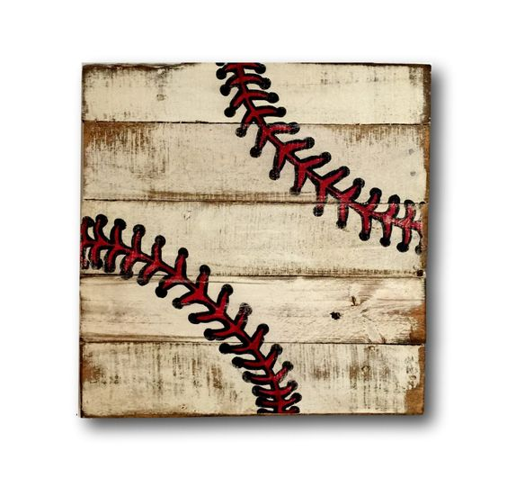 Wall Decorations Sports : Baseball wall art sports decor rustic vintage