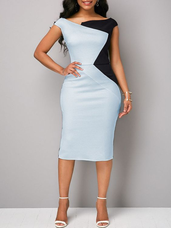 Modelo de Vestido Tubinho angelical