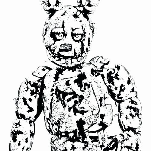 Springtrap Coloring Sheet Photos