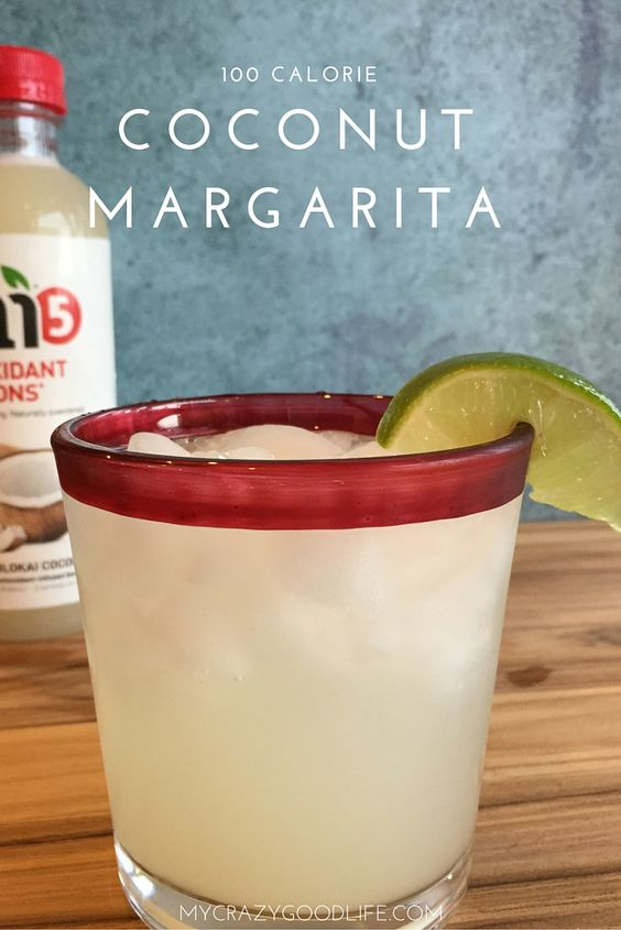 This 100 Calorie Coconut Margarita Recipe makes the perfect margarita... not too sweet, not too sour. It uses Bai5 and sparkling water.