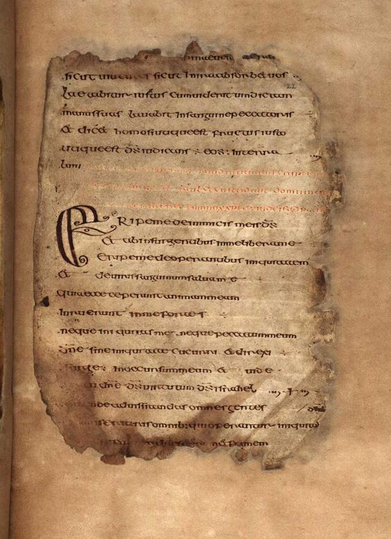 On display today: The Cathach / The Psalter of St Columba c.A.D.560-600 http://www.ria.ie/Library/Special-Collections/Manuscripts/Cathach.aspx … #manuscript: