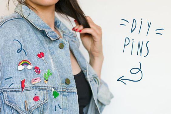 "Aprende a hacerte tus propios pins con ""I am a Mess Blog"":"