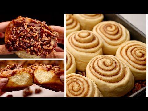 ستيكي بون أحلى من أي سينابون و صوص رائع لازم تجربوه Sticky Buns Youtube Food Delicious Food And Drink
