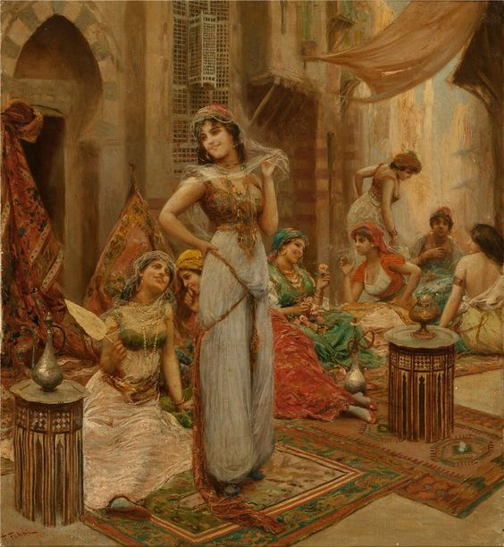 Fabio Fabbi (Italian, 1861-1910) Harem Beauties at Market