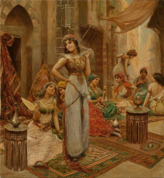 Fabio Fabbi (Italian, 1861-1910) Harem Beauties at Market