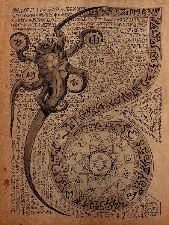 El Necronomicón,un libro salido de los infiernos 2928c36d0fcc34817862513bc18f0da4