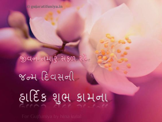 Gujarati Happy Birthday Wishes