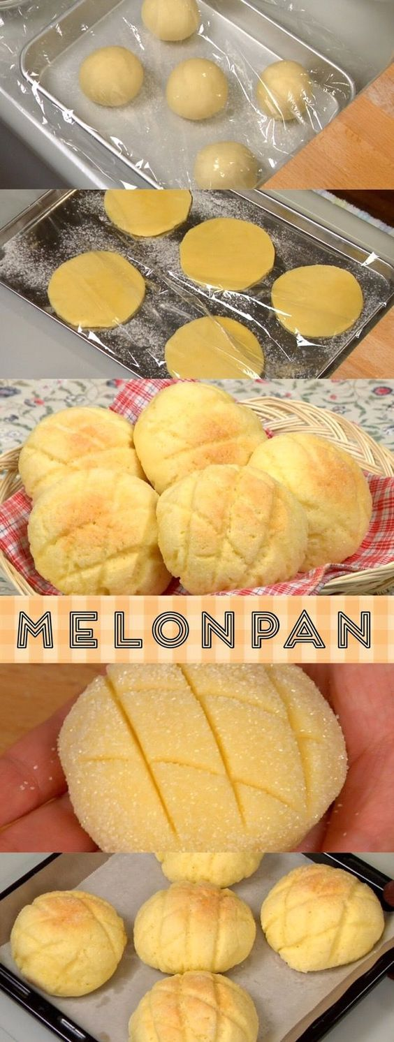 Melonpan (Japanese Melon-Shaped Bread)