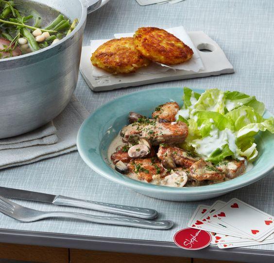 Zürcher Geschnetzeltes mit Kopfsalat Receta - alma küchen essen