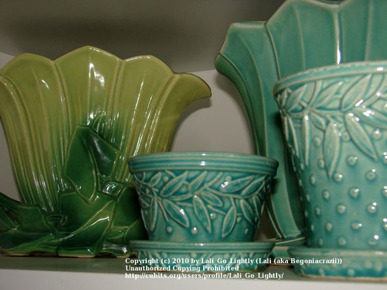aqua and blue collection of Lali Go Lightly: American Pottery, Mccoy Pottery, Ceramics Pottery, Vintage Pottery, Art Pottery, Mccoy Antiques, Aqua Turquoise Green Pottery, Mccoy Shawnee Misc Pottery