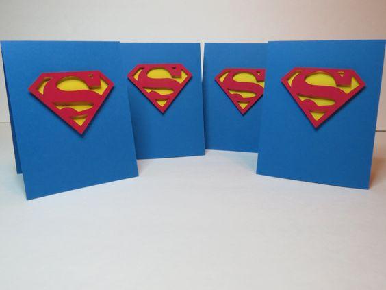 Carte de voeux, carte de fête, carte de remerciement  «Superman» de la boutique…