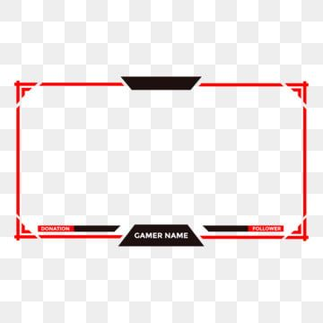 Or Twitch Face Cam Live Stream Overlay With Red Colors And Modern Design Game Stream Live Png And Vector With Transparent Background For Free Download Overlays Transparent Overlays Overlays Cute