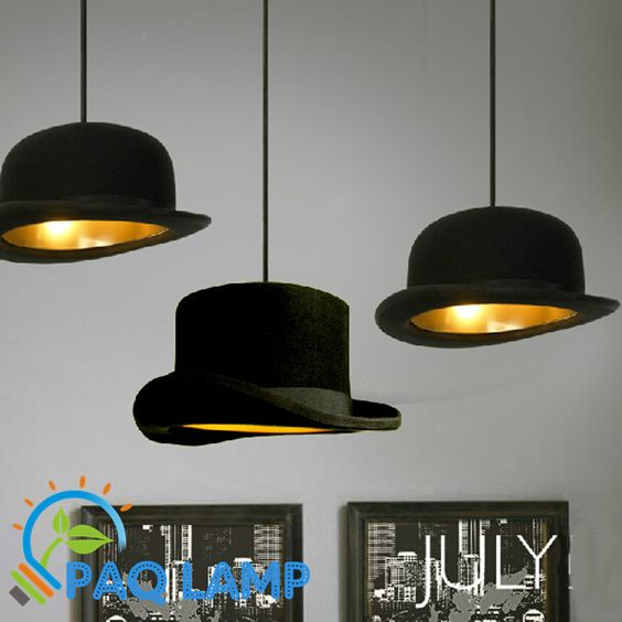 Pas cher moderne lustres de style lampe jeeves wooster top hat pendant