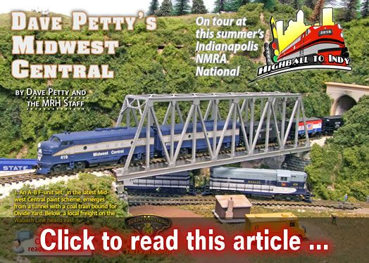 Dave Petty's Midwest Central - Model trains - MRH article March 2016