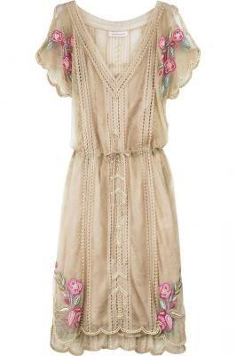Matthew Williamson Lace pearl beaded dress  #lace #rose #dress