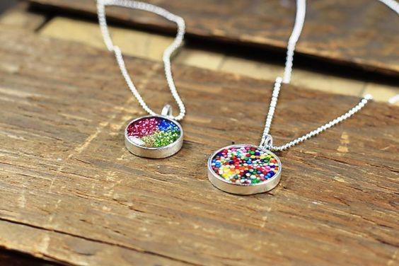 Make your own glitter filled or sprinkle filled resin pendants.