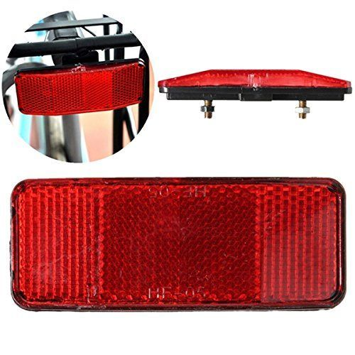 Bicycle Bike Safety Caution Warning Reflector Rear Clip Reflector New W
