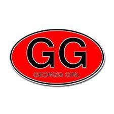 Georgia Girl I Oval Sticker for