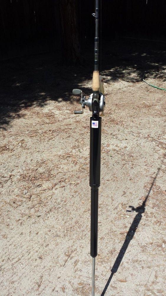 Bank fishing rod holder fishing pole holder built in for Hammer fishing rods