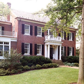 Incorporating period architecture exteriors porticos black front doors and front doors for Colonial house exterior renovation ideas