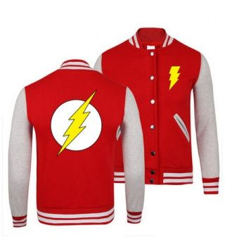 XXXL superhero The Flash baseball jackets for youth spring ...