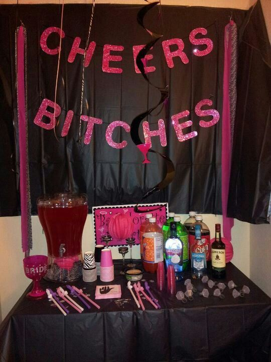 Table Setting For A Bachelorette Girls Night Party Ladies Night Party Hotel Birthday Parties