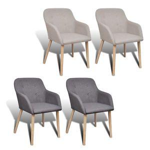 2/4/6x Stühle Stuhl Stuhlgruppe Esszimmerstühle Esszimmerstuhl Armlehne Eiche