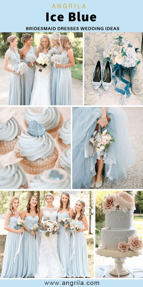 Ice Blue Bridesmaid Dresses Ice Blue Bridesmaid Dress Ice Blue Wedding Colors Bridesmaid Colors