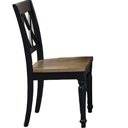 Rustic Wooden Dining Chairs Armless Classic Dining Room Side Chair