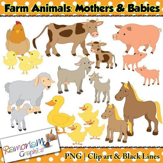 Pin By Kristie Ladner On Ucheniya Clip Art Farm Animals Animals
