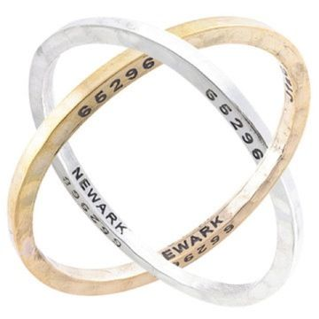 Caliber Collection steel bangle and Caliber Collection brass bangle, they really look great together and apart!