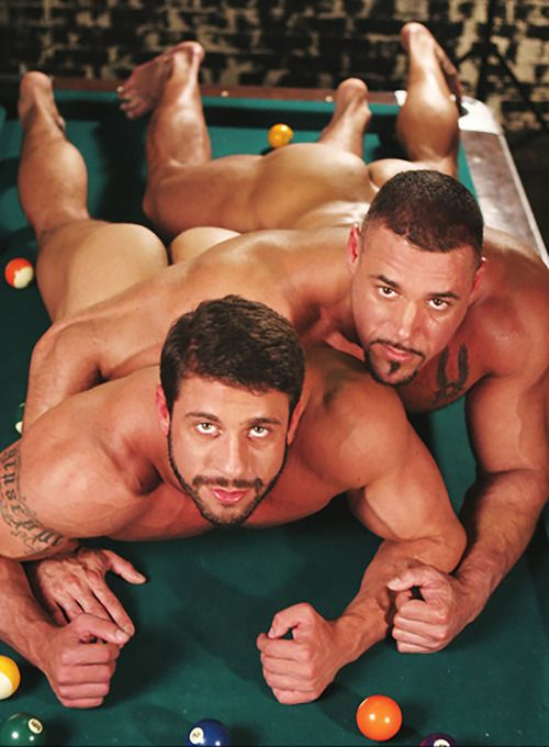 TWO MUSCLE MENS  STARTING A RELAXING SESSION....
