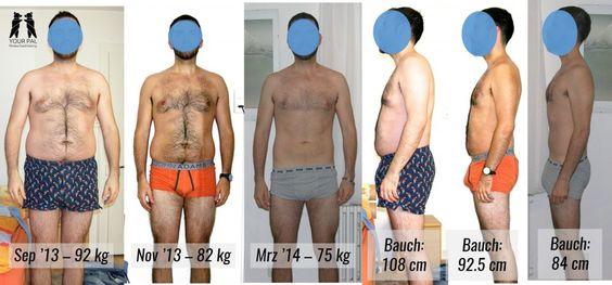 Ronny seine Transformation von 92 Kg auf 75 kg mit Hilfe von YOUR PALS PLAN.