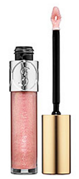 YSL Warm Pink with Gold Shimmer Gloss in Rose Orfèvre