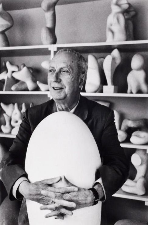 Jean Arp in his studio, Paris, 1959 -by Alexander Liberman from icp (176.1990)