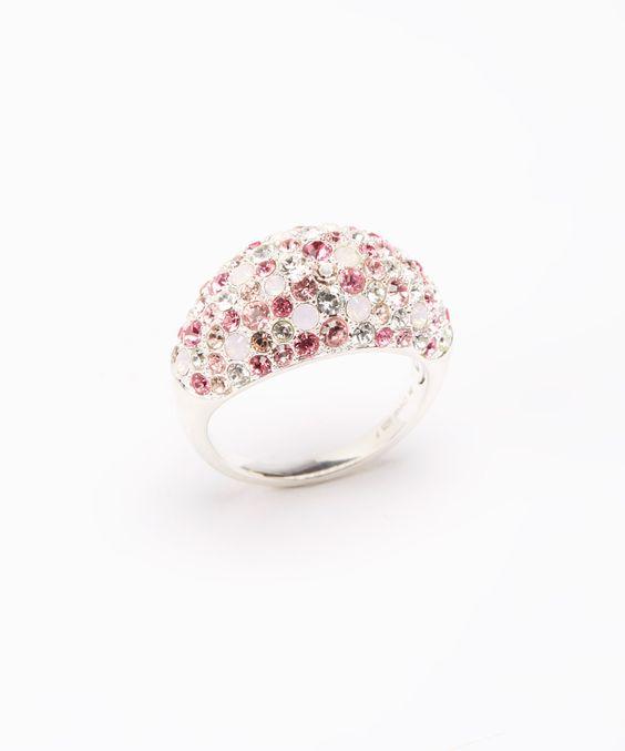 Pink Kaleidoscope Ring Made With SWAROVSKI ELEMENTS